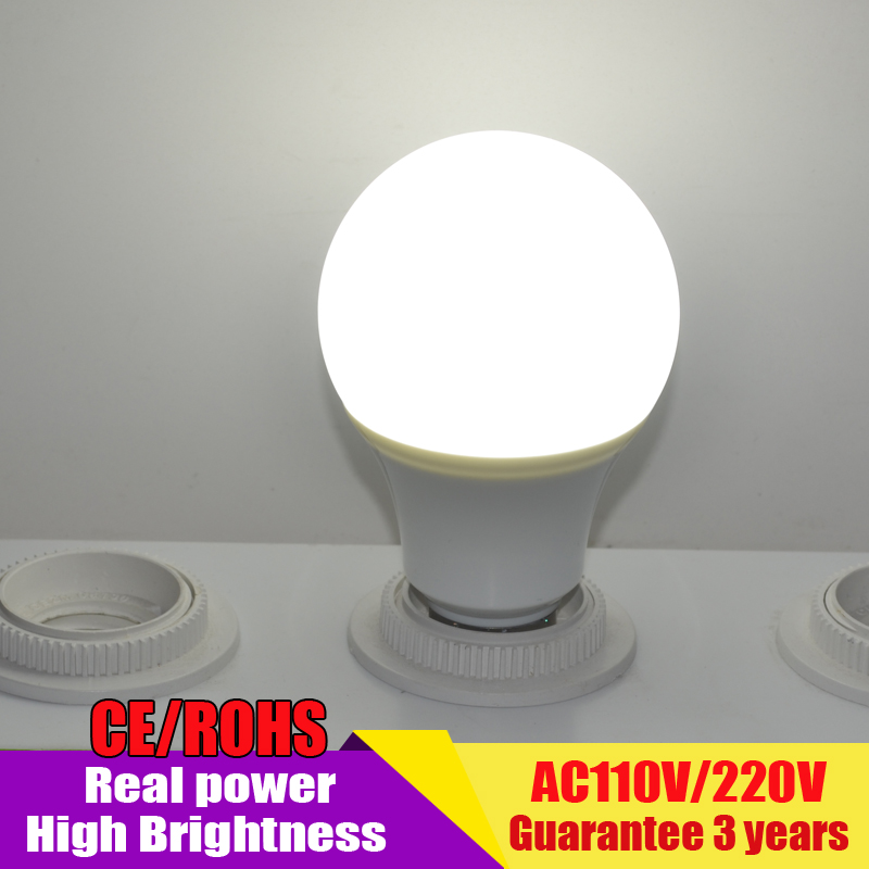 leve bulbo Lampada Led Bombillas LED Lamp E27 220V LED Bulb led Light bulb Real power 7W 9W 12W 15W Cold Warm White(China (Mainland))