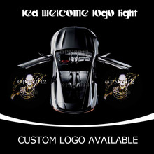 SKELETON SKULL 3D Welcome Ghost Shadow Emblem Light Door Courtesy Lamp LED Logo Light Wholesale For Ford DODGE RAM GMC BENZ 1325
