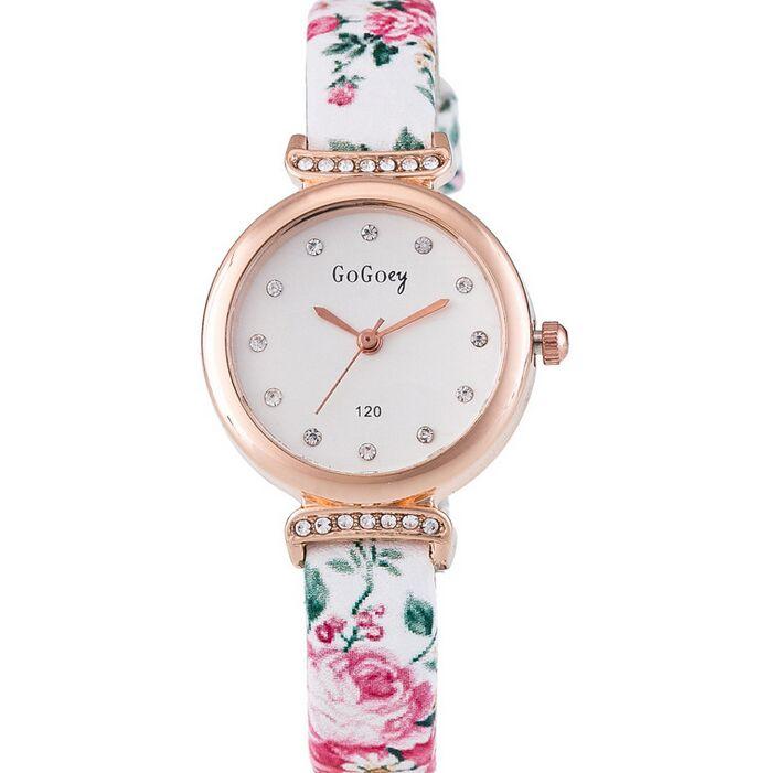 Top Gogoey Brand Fashion Flower Rhinestone Watch Women Casual Clock Female Quartz Ladies Wristwatch 120<br><br>Aliexpress