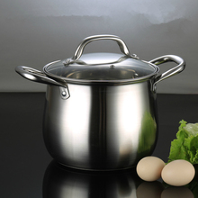 High Quality 304 Stainless Steel Pots Thickness 20cm~26cm 3-Ply Sandwiched Base Casserole Large Capacity Panela Free Shipping