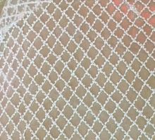 LJY-3323 white glass beads embroidery french net lace fabric for wedding dress/evening dress ship by dhl