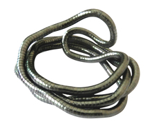 High quality wholesale black iron bendable flexible snake necklace 5mm,90cm,10pcs/pack(China)