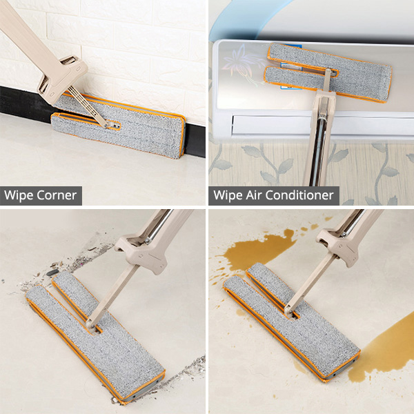 Self-Wringing Double Sided Flat Mop 7