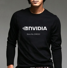 IT computer programmer factory NVIDIA long-sleeved T-shirt autumn spring car fans cotton full sleeve T shirt(China)