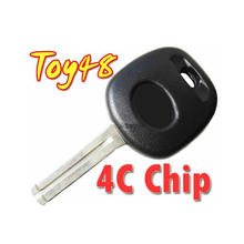 For Toyota Transponder Key With 4C Chip (Toy48 Laser Blade)(China)