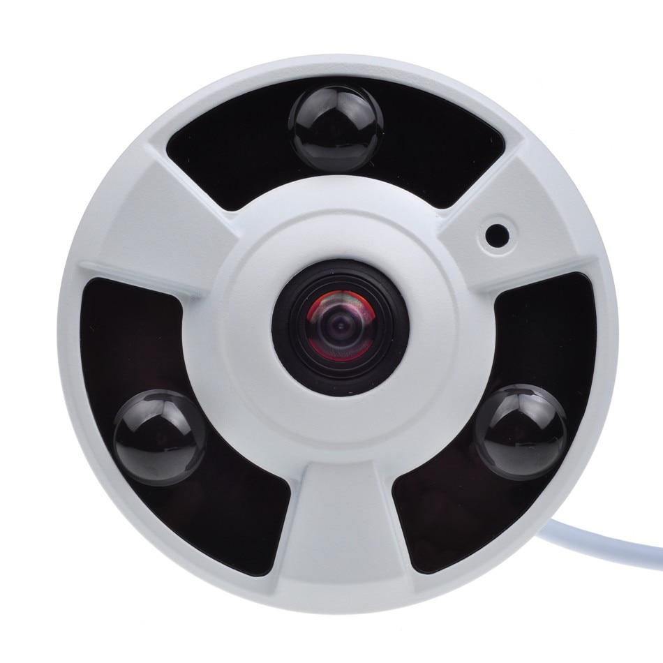 720P IP Camera (POE) Onvif Fisheye Panorama 5MP Lens IR Night Vision HD Security CCTV Camera 2MP 180 Degree View P2P XMEye<br>