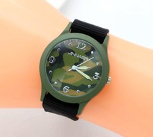 2018 NEW students army brand Canvas jelly watch+man fabric glow sports watches+promotion gift quartz watch+children wrist watch(China)