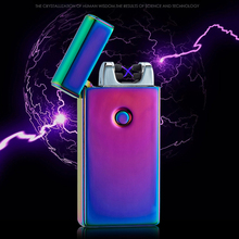 Buy Double Arc Pulse Electric Cigarette Lighter Rechargeable Flameless USB Lighter Men Electronic Windproof Lighters Plasma for $8.40 in AliExpress store