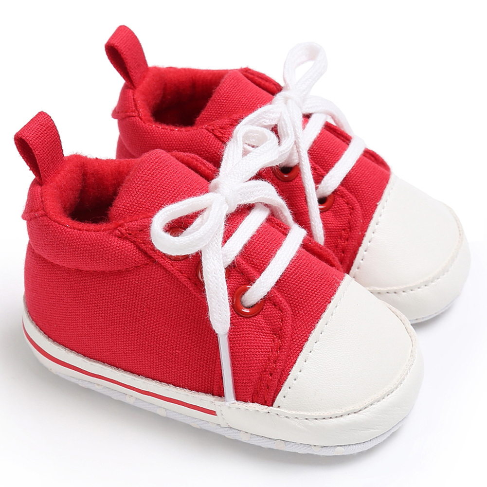 Spring Summer Newborn Canvas Shoes Sneaker Fashion 0-18 Month Baby Girls Boys Solid Soft Sole Shoes Prewalker First Walkers 12