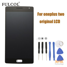 APS Oneplus Two LCD Display + Touch Screen 100% Good Digitizer Assembly Replacement Accessories For One Plus 2 Mobile Phone
