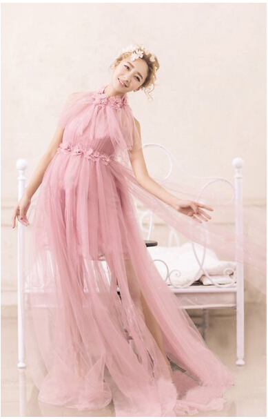 Elegant Pregnant women Dress Fancy Maternity Photography Props Maxi Lace Dresses For Pregnant Clothes<br>