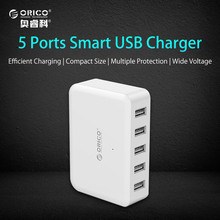 ORICO USB Charging Station 40W 5-Port Desktop Charger for iPhone 6 7 plus iPad Air 2 mini 3 Samsung Galaxy S6and More(DCAP-5S)(China)