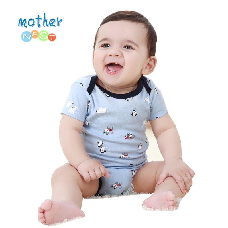 2018 Newly 100% Cotton Baby Bodysuit Boy Autumn Newborn Cotton Body Baby Long Sleeve Underwear Infant Boy Girl Pajamas Clothes (2)