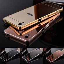 Buy Sony Xperia Z2 L50W L50u D6503 D6502 Aluminum Metal Frame + Acrylic Back Cover Plating Mirror Case Cover Sony Z2 case for $4.98 in AliExpress store
