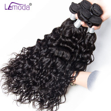 Le Moda Malaysian Water Wave Human Hair Weave Bundles 1 piece Remy Hair Extensions 10-28inch Can be dyed(China)