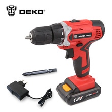 DEKO LCG18VDU 18V DC New Design Household DIY Lithium-Ion Battery Cordless Drill/Driver Power Tools Electric Drill