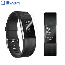 Ollivan 2PCS HD Clear Anti-Scratch Resistance Screen Protector TPU Full-Screen Protective Film For Fitbit Charge 2 Charge2 Band