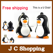 Lovely Cartoon Penguin Shape pen drive USB 2.0 Memory Stick Thumb Drive U Disk usb flash drive 2G/4G/8G/16G/32G/64GB pendrive(China)