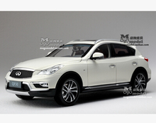 2015 New INFINITI QX50 1:18 origin car model alloy metal diecast Pearl White Luxury SUV Limited Collection kid toy boy gift