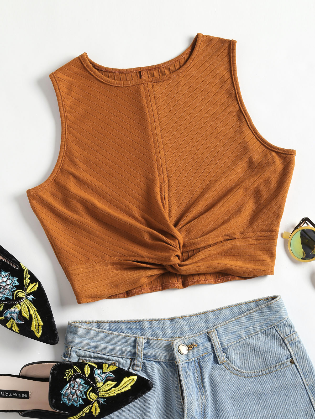 fd5a512e5a8fc8 Detail Feedback Questions about AZULINA Plain Twisted Tank Top Women ...