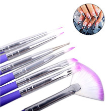 7pcs/set Luxury Nail Art Design Brushes Set Painting Pen Polish Tips Nail Brush Nail Pen JAN16