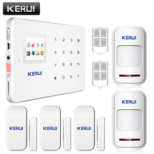 New arrival! High quality KERUI Wireless GSM home alarm system Intelligent perimeter security system+Sensor Door+wireless pir