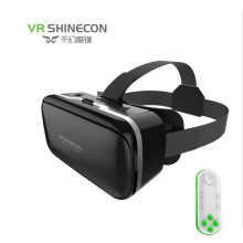 Shinecon vr virtual reality 3d glasses eyeballs google cardboard game watching movie 3d hd lenses for 4-6 inch smartphone(China)