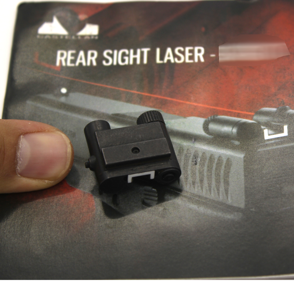 Tactical Steel Rear Sight Laser Red Dot Laser Sight for All Pistol Glock Series Hunting Scope Laser Sight<br>