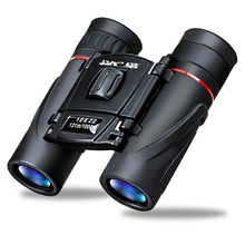 10X22 Binoculars HD high magnification folding eyepiece 10 times HD wide angle lightweight carry Outdoor binoculars(China)