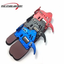 DECUT Archery Finger Tab HOCKII Left and Right Hand Archery Finger Guard Protection Pad Glove Tab for Bow Finger Protector(China)