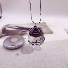 Free shipping Wholesale cute romantic snake winter sweater chain glass crystal water drop pendant star necklace fashion jewelry(China)