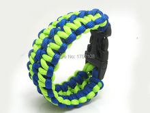wholesale newest fashion weave paracord survival bracelet with whistle plastic buckle(China)