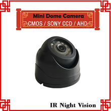 Free Shipping Mini Plastic Dom Camera For bus,taxi Sony ccd Camera support built in microphone(China)