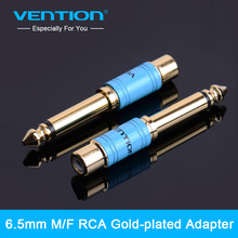 "Vention New 6.35mm 1/4"" Male Mono Plug to RCA Female Jack Audio Adapter Connector for Projector Computer Microphone(China)"