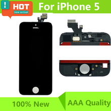 "No Dead Pixel 100% Test 4"" LCD Screen For iPhone 5s 5 5C LCD Digitizer with Touch Screen complete display +Tools free Shipping"