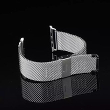 Men women 38mm 42mm Stainless Steel Minnow Net Milanese Elegant Metal Watch Band Bracelet Strap for Apple Watch Iwatch I39.(China)