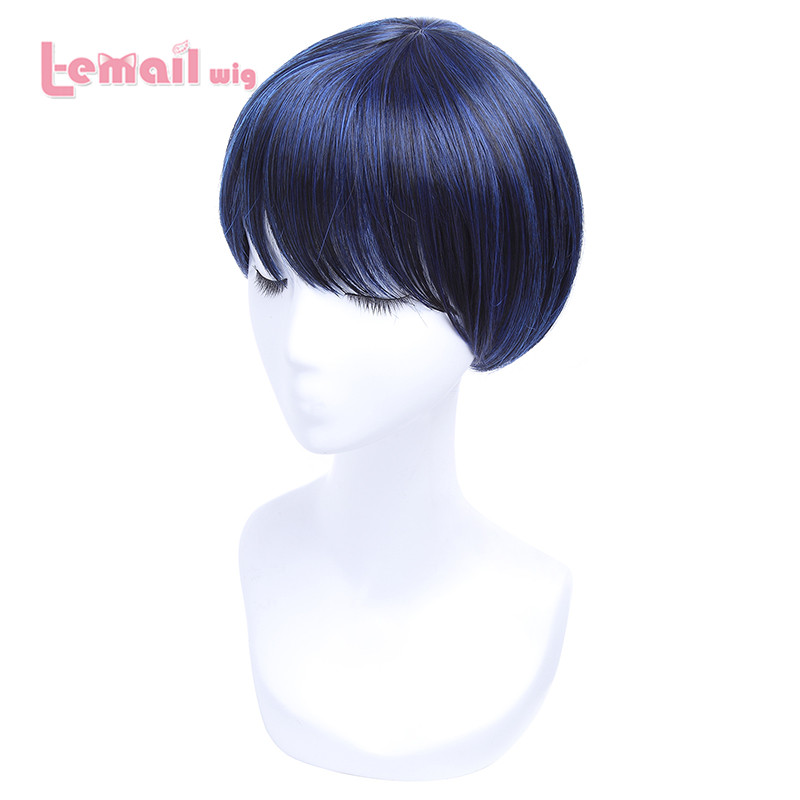 L-email 30cm Black Blue Short Cosplay Wigs Short Hair Wigs for Black Women JF-0327<br><br>Aliexpress