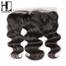 [HJ WEAVE BEAUTY] Brazilian Lace Frontal Closure Body Wave Remy Hair 13*4Plucked Natural Hairline Bleached Knots 100% Human Hair