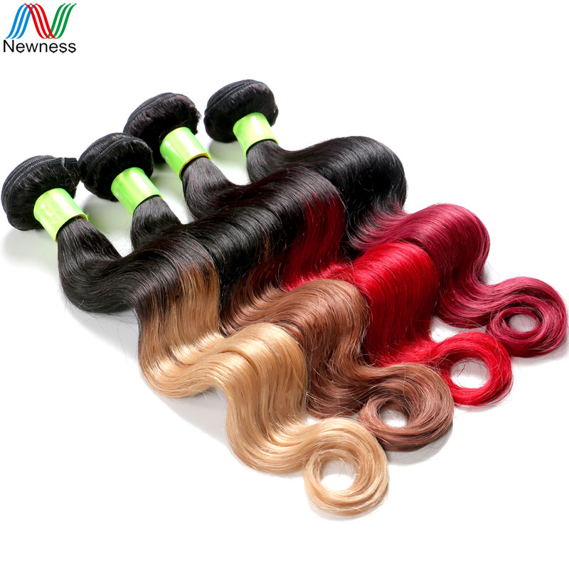 Newness 2017 Hottest Ombre Hair Extensions Peruvian Body Wave Remy Hair Two Tone Human Hair Wholesale Colored Hair Cheap Price<br><br>Aliexpress