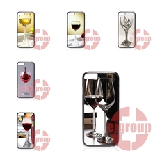 paris eiffel tower red wine glass For Sony T2 X XA For Huawei G6 G7 G8 Honor 5A 8 Note 8 LG G2 G3 Mini K7 V20 Plastic Black