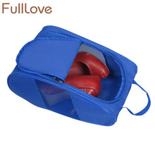 FullLove Travel Shoes Organizer Solid Color Blue Ziplock Shoes Storage Bag Box Dustproof Shoes Pouch Home Storage & Organization