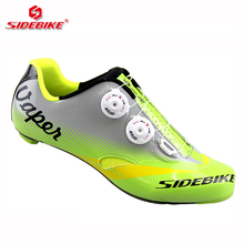 sidebike carbon road bike shoes men professional racing cycling shoes road carbon sole bicycle bike sneakers trek breathable(China)