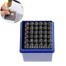"DoreenBeads 4mm Carbon Steel Gunmetal Number "" 0-9 "" ""&"" Alphabet "" A-Z "" Rectangle Punch Metal Stamping Tools 58mm x 6mm, 1 Set(China)"