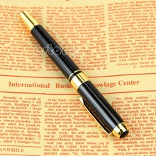New Jinhao 250 Black And Gold M Nib Fountain Pen Thick  Fountain Pen Black And Gold