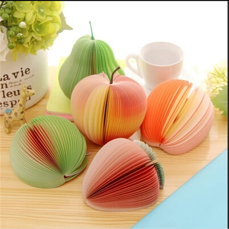 Cute Novelty Various Fruit Design Memo Pad Sticky Notes Memo Notebook Pad Promotional Gift Stationery(China (Mainland))