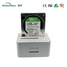 6TB docking station sata dual bay sata 2.5 enclosure usb 3.0 usb external hard drive hd aluminum high speed case hd 2.5 usb 3.0(China)
