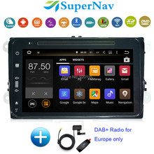 8 inch 1 DIN Car DVD Player Android 7.1 fit Volkswagen VW Polo Sagitar GTI EOS Tiguan Jetta Wifi 2G RAM BT DAB+ Radio DVD GPS(China)