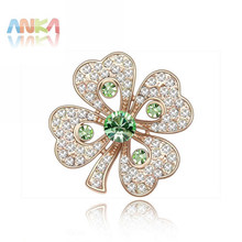 Brooches Fine Jewelry clover Brooch Broche wholesale Perfect Package Allergy Free Rose Plating Perfumes Brooch #85454