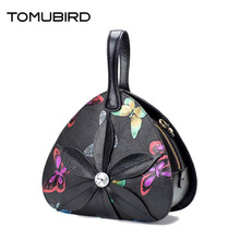 TOMUBIRD 2017 New women genuine leather bag fashion Butterfly embossing real leather art bag women handbags tote bag