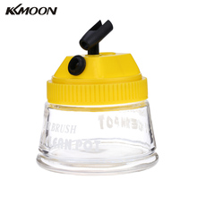 KKmoon Professional Airbrush 3 in 1 Cleaning Pot Glass Air Brush Holder Big Clean Paint Jar Bottle Manicures Tattoo Supply